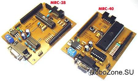 Форм-фактор и общая концепция полностью повторяет наш предыдущий робоконтроллер MRC-28