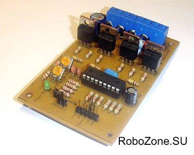 STEP/DIR контроллер униполярного шагового двигателя на базе PIC16F628