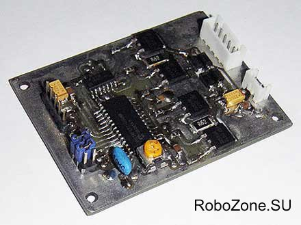 Микрошаговый контроллер униполярного шагового двигателя на базе PIC18F252 V3.0