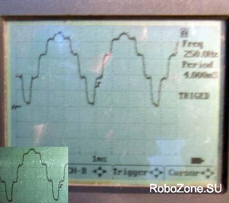 Опорное напряжение для микрошага, контролируется на С1 и С2