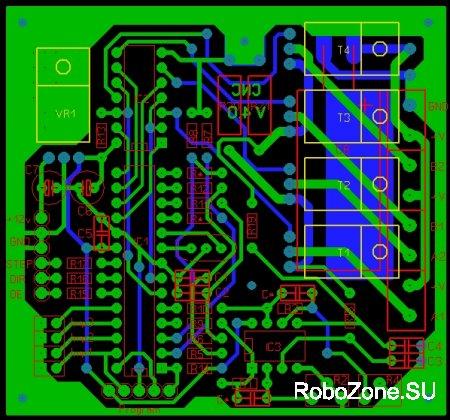 Микрошаговый контроллер шагового двигателя на базе PIC18F2320 V4.0