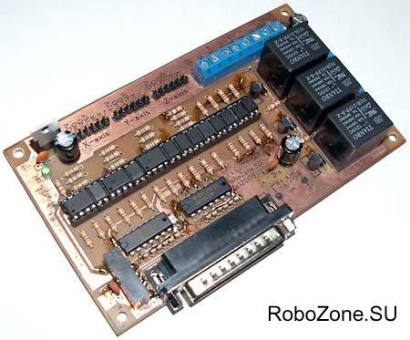 Интерфейсная плата с опторазвязкой LPT порта для ЧПУ (CNC) станка.