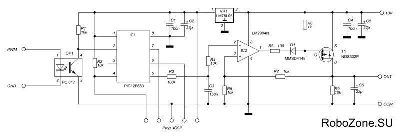 PWM контроллер шпинделя (Rev
