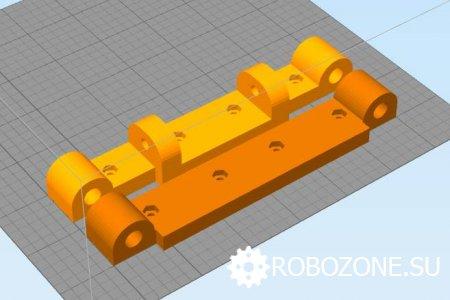 Ручной трафаретный принтер для нанесения паяльной пасты на 3D принтере.